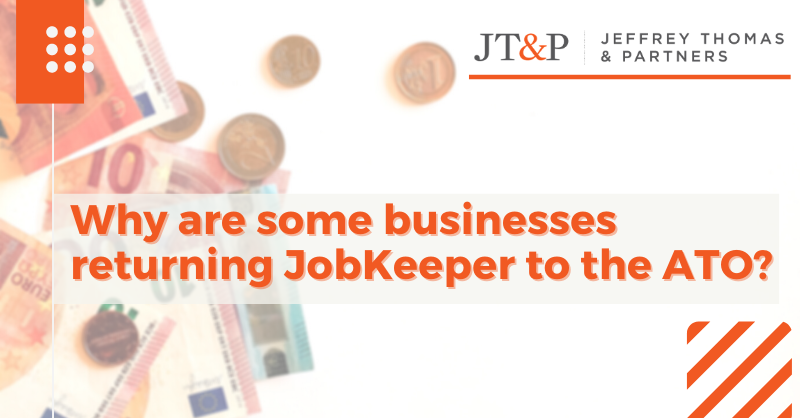 Why Are Some Businesses Returning Jobkeeper To The Ato